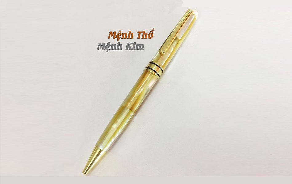 Bút khảm trai ngọc vàng